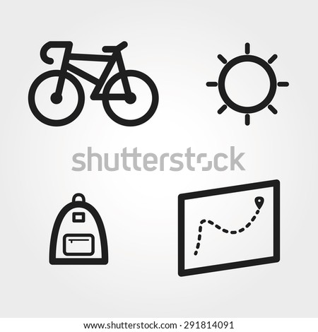 city vector icons - stock vector