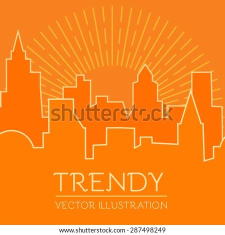 City vector illustration. Real estate.  - stock vector