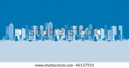 Cityscape background, urban art - stock vector