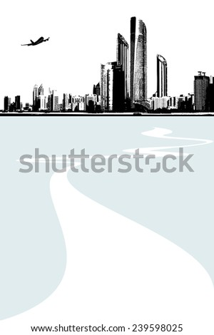 Cityscape background. Vector - stock vector
