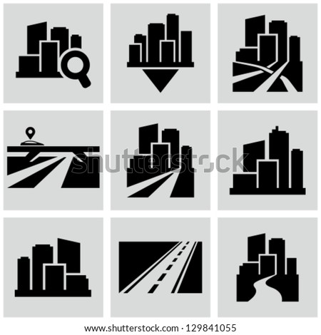 Cityscape icons - stock vector