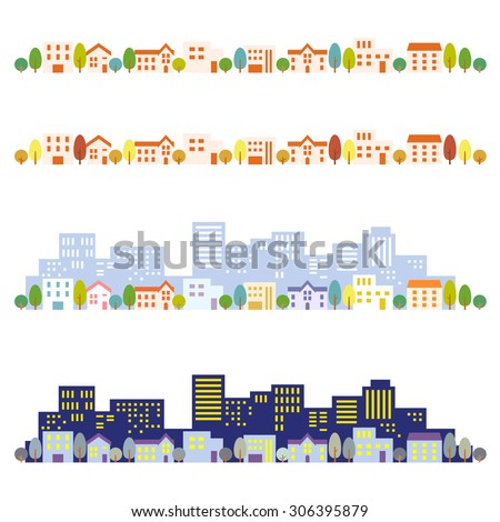 Cityscape illustrations - stock vector