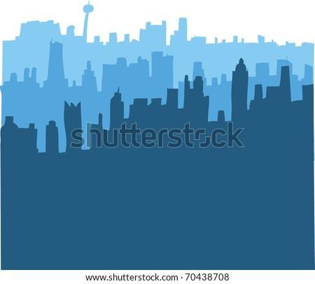 Cityscape Silhouettes - stock vector
