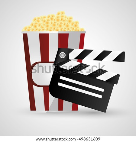 Clapboard cinema and movie design