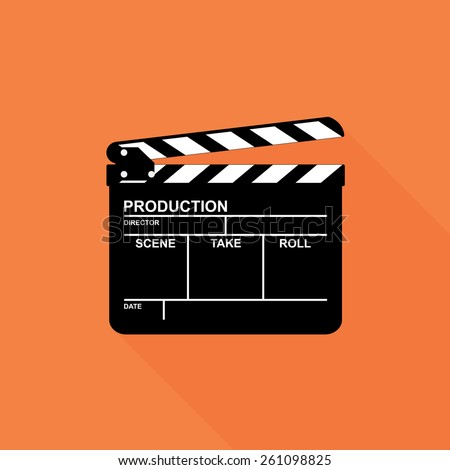 Clapper board icon - Vector - stock vector