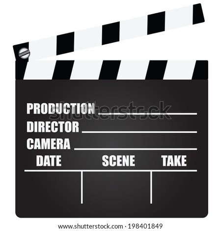 Clapperboard with an information field for shooting movies. Vector illustration. - stock vector