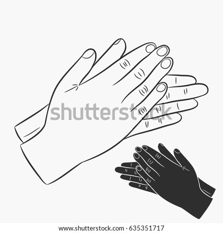 Clapping Hands Black And White