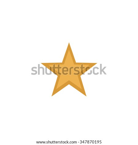 Clasic star Color vector icon on white background  - stock vector