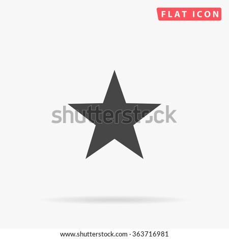Clasic star Icon Vector.  - stock vector