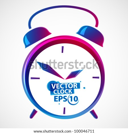Classic alarm clock vector illustration - stock vector
