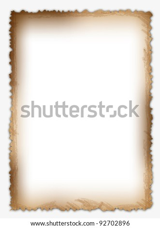 Classic and original old paper page. - stock vector