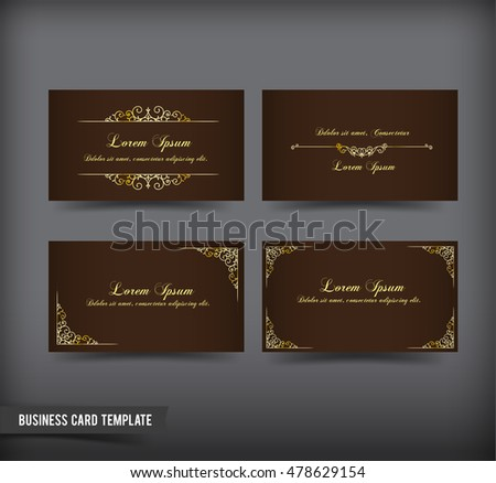 Classic vintage style business card template stock vector 478629154 classic and vintage style business card template vector illustration reheart Gallery