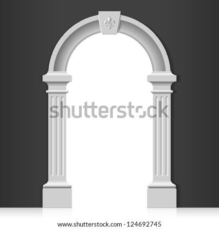 Classic arch. Vector. - stock vector