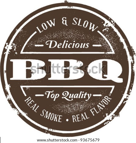 Classic Barbeque Stamp - stock vector