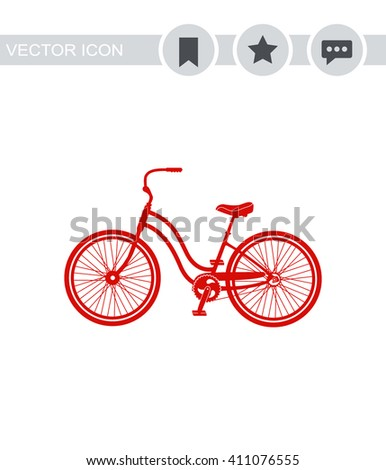 Classic bicycle Icon.