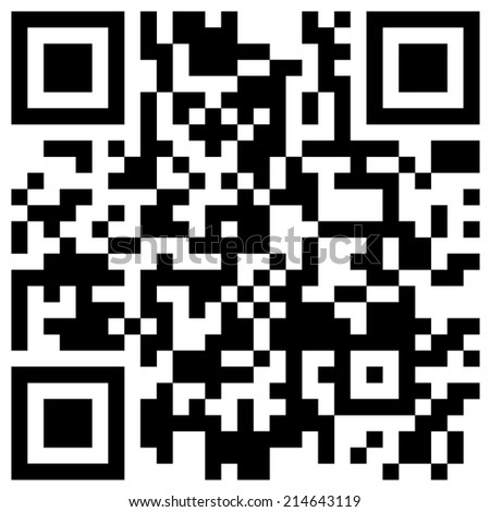 """Classic black and white QR code with hidden text  """"will you marry me?"""" - stock vector"""