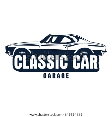 Classic Car Logo Stock Vector Shutterstock