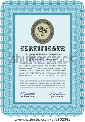 classic certificate template money pattern design stock vector
