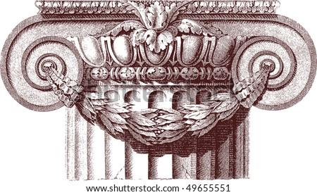 classic column - stock vector