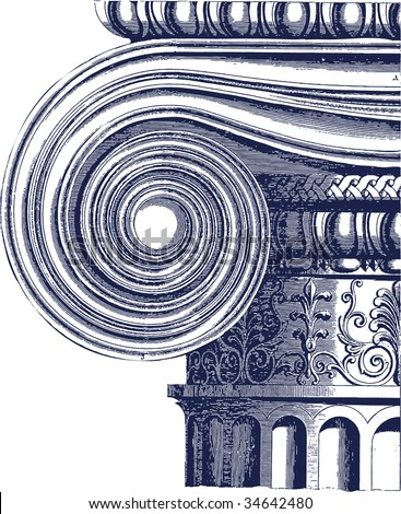 classic column illustration - stock vector