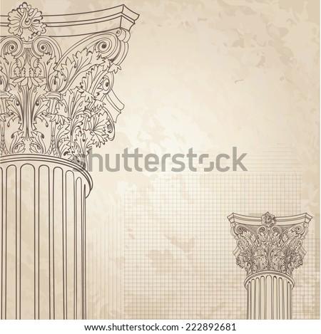 Classic Columns Seamless Background Roman Corinthian Stock Vector 231074560 Shutterstock