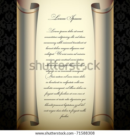 Classic curled wallpaper - stock vector