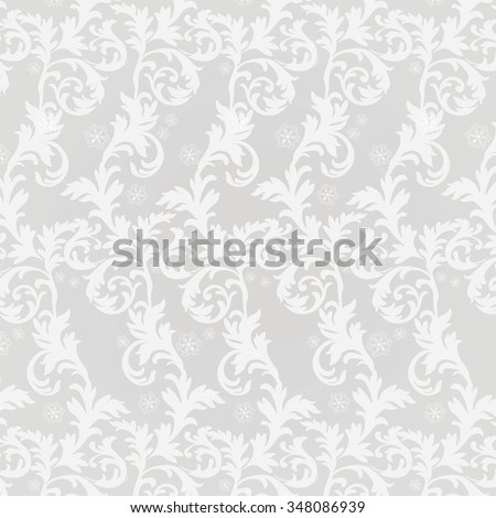Classic damask floral ornament. Vector