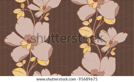 Classic flower seamless pattern good as wallpaper. - stock vector