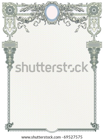 """Classic guilloche background like those seen on diplomas, stock certificates, etc. For more see """"Guilloche"""" in my gallery. - stock vector"""