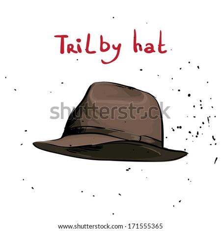 Classic hat - stock vector