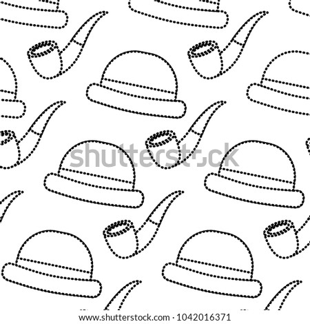 classic hat and tobacco pipe hipster style wallpaper