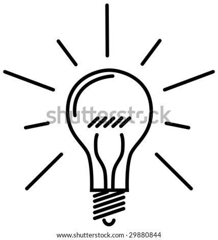 Classic Light Bulb - stock vector