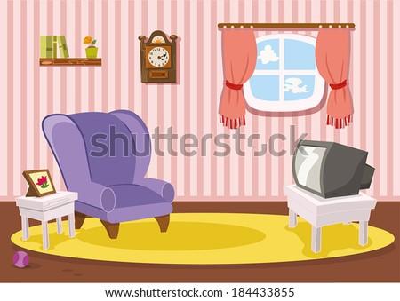 Classic Living Room - stock vector