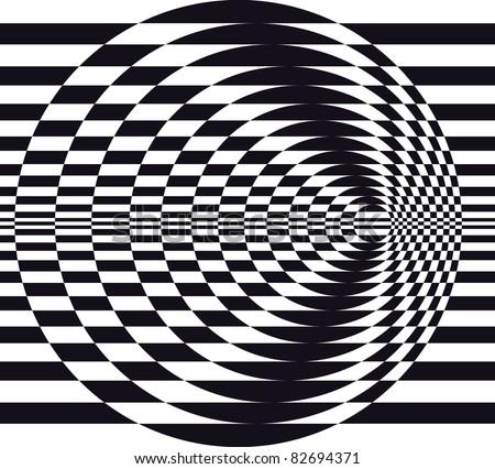 Classic optical illusion. Impossible geometrical figure - stock vector