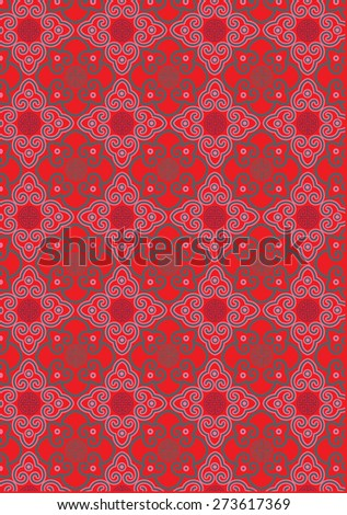 Classic oriental traditional background pattern (vector) - stock vector