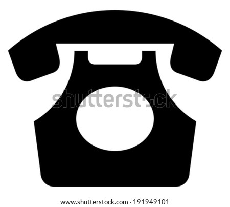 Classic phone vector icon - stock vector