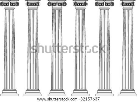 Classic pillars - stock vector