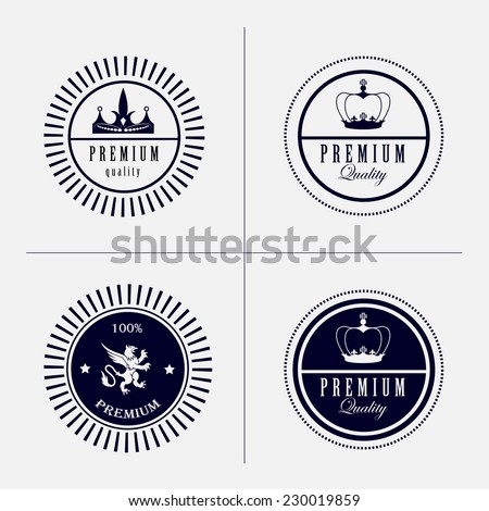 classic retro hipster style insignias logo elements collection- premium quality product - stock vector