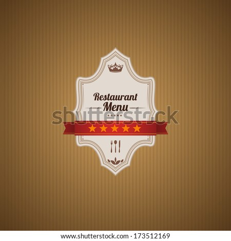 Classic retro main cover for restaurant menu. - stock vector