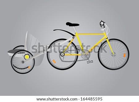 Classic road bicycle / bike - stock vector