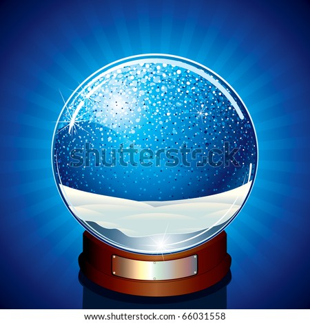 Classic Snow Globe - vector illustration ready for your own object or design - stock vector