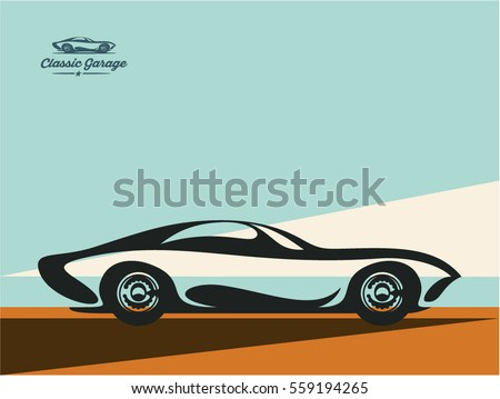 Modern Classic Car Stock Vector Shutterstock - Classic car design