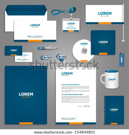 Classic stationery template design. Documentation for business. - stock vector