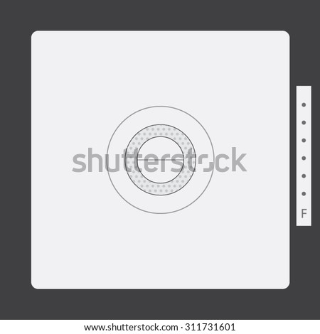Classic viewfinder Vector - stock vector