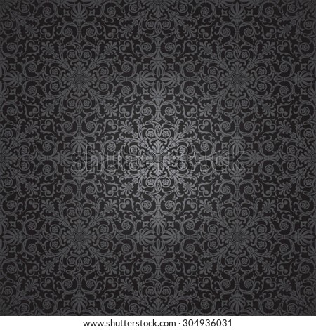 Classic vintage seamless pattern. Baroque and antique ornamental background.