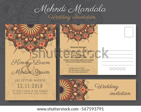 Classic vintage wedding invitation card design stock vector hd classic vintage wedding invitation card design with beautiful mandala flower suitable for both traditional and stopboris Images