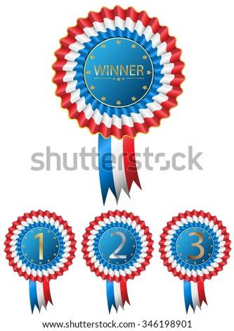 Classic Vintage Winner Award Badge - stock vector