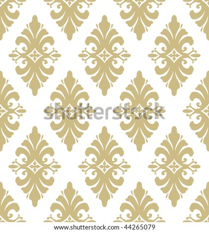 Classic wallpaper pattern - stock vector