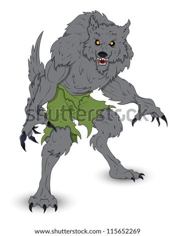 Classic Werewolf Vector Illustration - stock vector