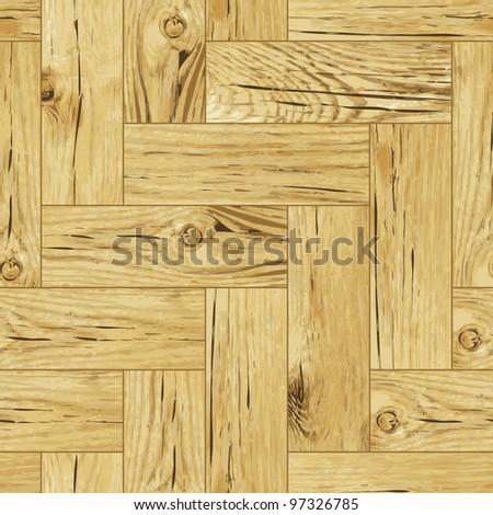 Classic wooden oak parquet flooring - seamless vector texture - stock vector